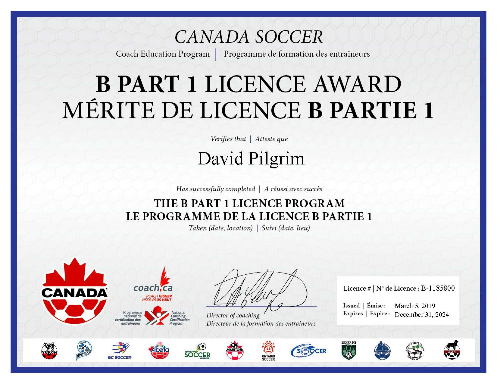 Coaching_B1_Licence_Certificate – David Pilgrim